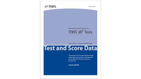 Test and Score Data Summary for TOEFL iBT® Tests