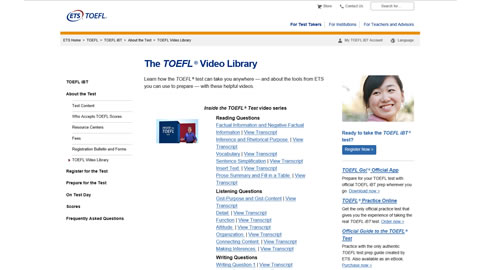 Inside the TOEFL® Test video series